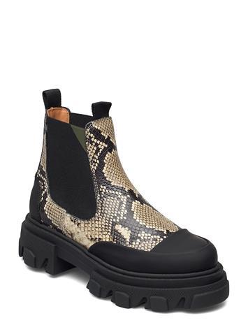 Ganni Embossed Snake Shoes Chelsea Boots Musta Ganni KALAMATA