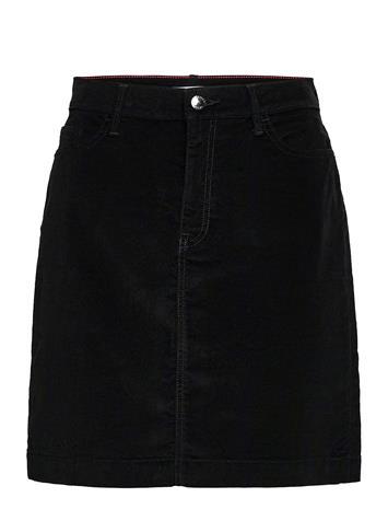 Tommy Hilfiger Thflex Velvet Mini Skirt Lyhyt Hame Musta Tommy Hilfiger BLACK
