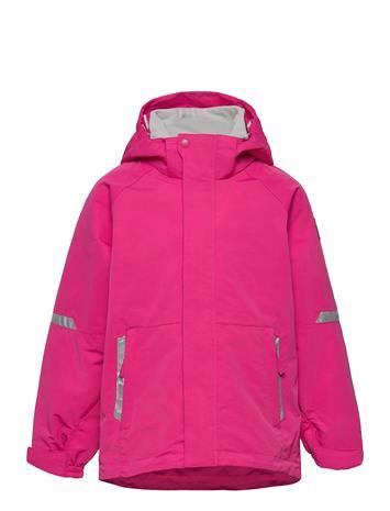 Polarn O. Pyret Jacket Shell Solid Outerwear Shell Clothing Shell Jacket Vaaleanpunainen Polarn O. Pyret MAGENTA