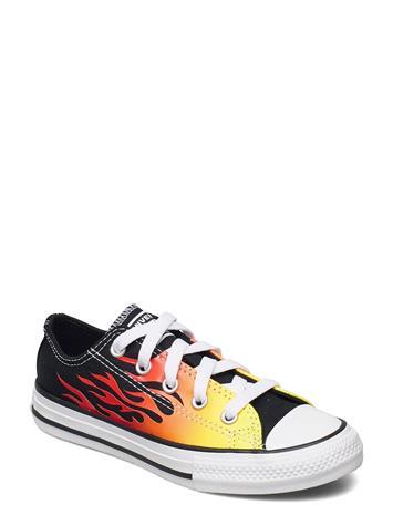 Converse Ctas Ox Black/Enamel Red/Fresh Yellow Matalavartiset Sneakerit Tennarit Musta Converse BLACK/ENAMEL RED/FRESH YELLOW