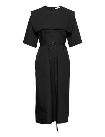 Marimekko Nelikulmio Solid Dress Polvipituinen Mekko Musta Marimekko BLACK