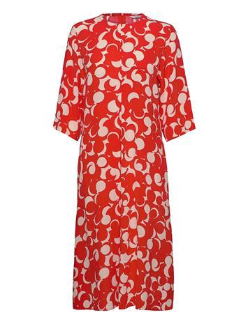 Marimekko Peilaus Murikat Dress Polvipituinen Mekko Punainen Marimekko RED, BEIGE