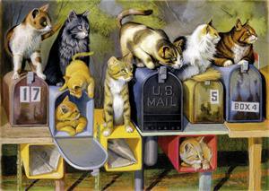 Ravensburger Palapeli Kissat Postilaatikoilla 300