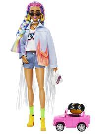 Barbie Extra Doll Rainbow Braids Nukke