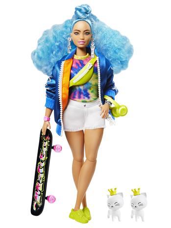 Barbie Extra Doll Blue Curly Hair Nukke