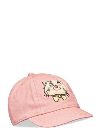 Mini Rodini Cat Soft Cap Accessories Headwear Caps Vaaleanpunainen Mini Rodini PINK