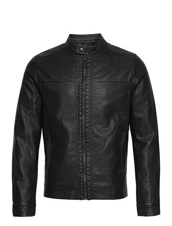 Jack & Jones Jjewarner Jacket Noos Nahkatakki Musta Jack & J S BLACK