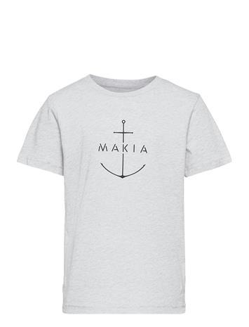 Makia Ankra T-Shirt T-shirts Short-sleeved Harmaa Makia LIGHT GREY, Lastenvaatteet