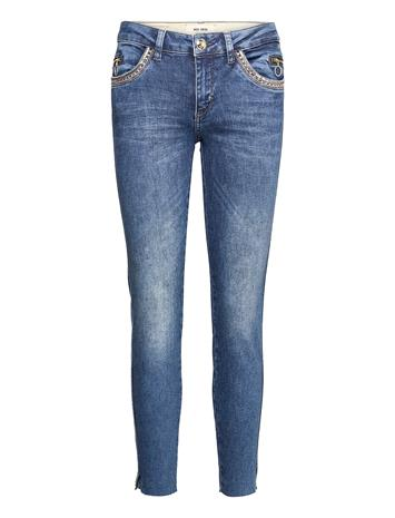 MOS MOSH Sumner Shine Jeans Skinny Farkut Sininen MOS MOSH BLUE
