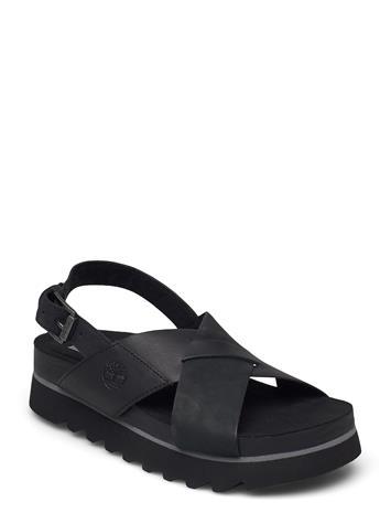 Timberland Santa Monica Sunrise Crossband Shoes Summer Shoes Flat Sandals Musta Timberland JET BLACK