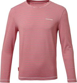 Craghoppers NosiLife Jago Long Sleeved Shirt Boys, pompeian red stripe