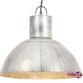 vidaXL Riippuvalaisin 25 W hopea pyöreä 48 cm E27