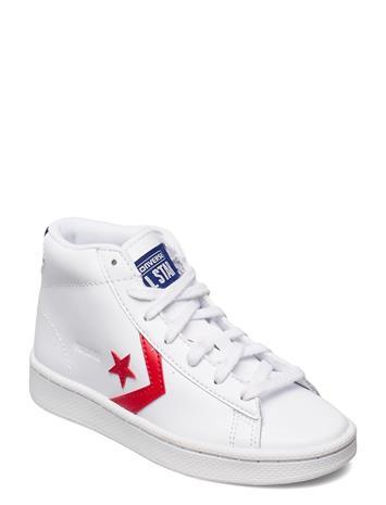 Converse Pro Leather Hi White/Rush Blue Matalavartiset Sneakerit Tennarit Valkoinen Converse WHITE/RUSH BLUE