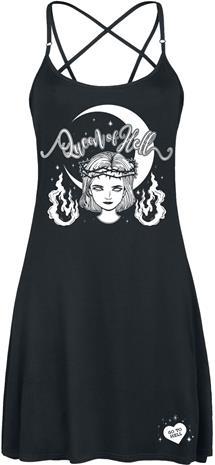 Sabrina - Queen of Hell - Keskipitkä mekko - Naiset - Musta
