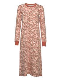 Polarn O. Pyret Nightdress L/S Aop Adult Night & Underwear Pyjamas Nightdresses Oranssi Polarn O. Pyret APRICOT BRANDY