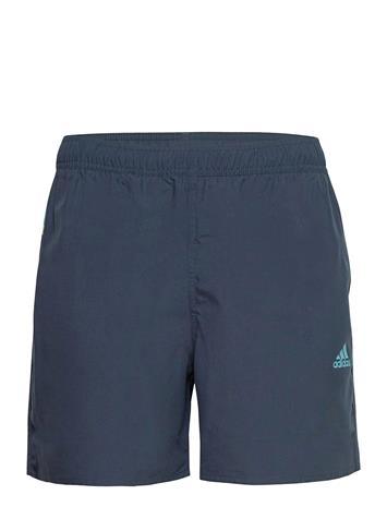 adidas Performance Short-Length Colorblock 3-Stripes Swim Shorts Uimashortsit Sininen Adidas Performance CRENAV/HAZBLU