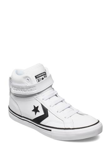 Converse Pro Blaze Strap Hi White/Black/White Korkeavartiset Tennarit Valkoinen Converse WHITE/BLACK/WHITE