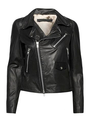 MDK / Munderingskompagniet Bronco Thin Leather Jacket Nahkatakki Musta MDK / Munderingskompagniet BLACK