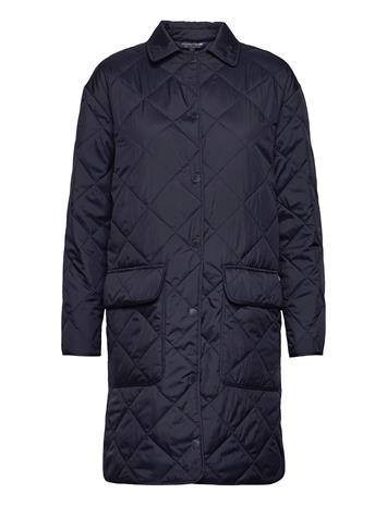 Lexington Clothing Darlene Quilted Jacket Topattu Pitkä Takki Sininen Lexington Clothing DARK BLUE