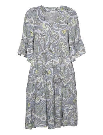 Andiata Tayla Dress Polvipituinen Mekko Harmaa Andiata AIR BLUE PAISLEY