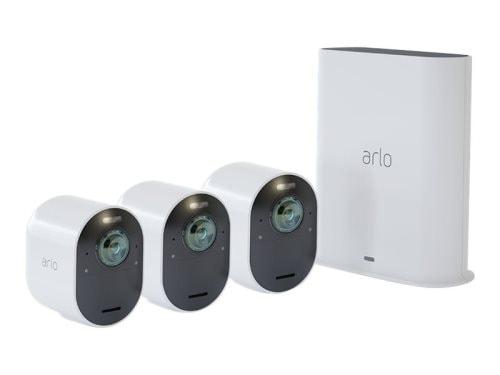 Arlo Gen5 Ultra 2 Spotlight Camera X3 (VMS5340-200EUS), langaton valvontakamerajärjestelmä, 3 kameraa