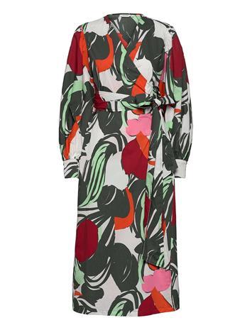 Marimekko Aalloilla Iso Mehu Dress Dresses Everyday Dresses Monivärinen/Kuvioitu Marimekko GREEN, RED, SAND