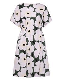 Marimekko Siloinen Pieni Unikko 2 Dress Dresses Everyday Dresses Liila Marimekko DARK GREEN, LAVENDER