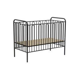 Polini Kids Baby cot Vintage 110 black