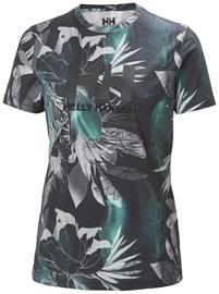 Helly Hansen HH Logo T-Shirt Women, midnight green esra print