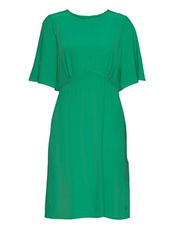 Coster Copenhagen Dress W. Volume Skirt Polvipituinen Mekko Vihreä Coster Copenhagen EMERALD GREEN