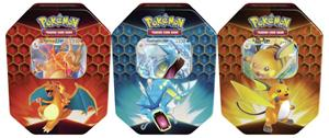 Pokemon Hidden Fates Tins - Set of 3 (Charizard, Gyarados and Raichu)