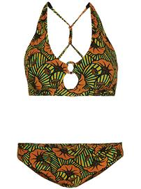 O'Neill Lisala Maoi Bikini Set yellow aop w / green Naiset