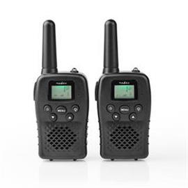 Radiopuhelin kantama 10 km 8 kanavaa vox ladattavat paristot 2 osaa musta