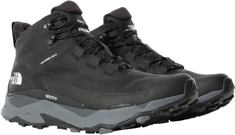 The North Face Vectiv Exploris FutureLight Mid Shoes Men, TNF black/zinc grey, Miesten kengät