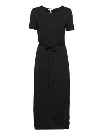 Object Objannie Nadia S/S Dress Noos Dresses Wrap Dresses Musta Object BLACK