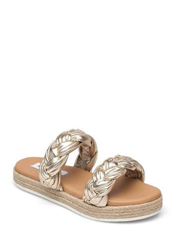 Steve Madden Kirsi Sandal Shoes Summer Shoes Flat Sandals Kulta Steve Madden GOLD