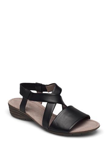 Gabor Ankle-Stap Sandal Shoes Summer Shoes Flat Sandals Gabor BLACK