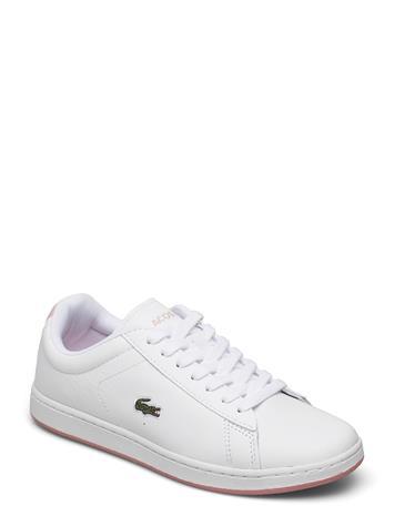 Lacoste Shoes Carnaby Evo 0721 2 S Matalavartiset Sneakerit Tennarit Valkoinen Lacoste Shoes WHT/LT PNK LEATHER