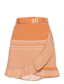 Kids Only K Lla Fake Wrap Skirt Cp Wvn Hame Oranssi Kids Only ECRU