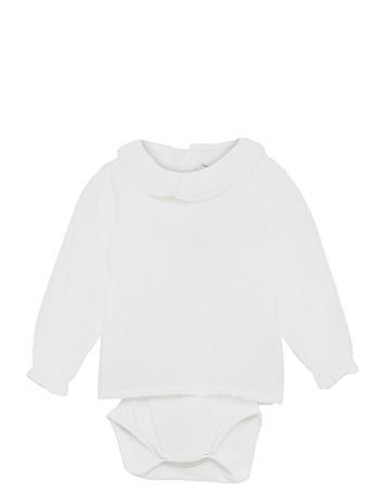 name it Nbfferret Ls Shirt Body Bodies Long-sleeved Valkoinen Name It BRIGHT WHITE