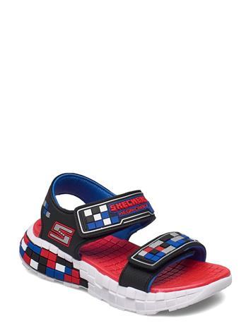 Skechers Boys Mega-Craft Sandal Shoes Summer Shoes Sandals Punainen Skechers BKSR BLACK SILVER RED