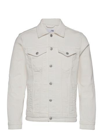 Selected Homme Slhjeppe 4040 White St Denim Jacket U Farkkutakki Denimtakki Valkoinen Selected Homme WHITE DENIM
