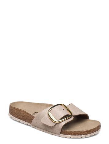 Birkenstock Madrid Big Buckle Shoes Summer Shoes Flat Sandals Beige Birkenstock WASHED METALLIC ROSE GOLD