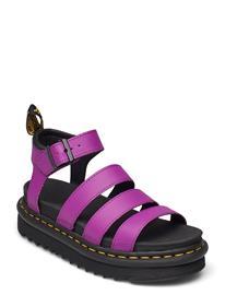 Dr. Martens Blaire Shoes Summer Shoes Flat Sandals Liila Dr. Martens BRIGHT PURPLE, Naisten kengät