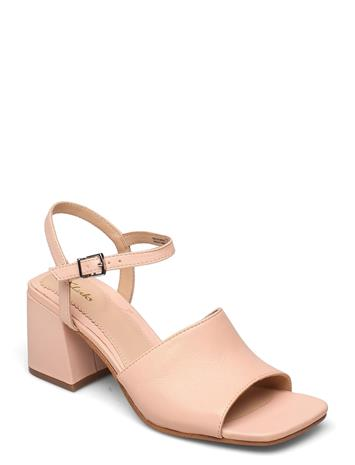 Clarks Sheer65 Block Korolliset Sandaalit Vaaleanpunainen Clarks LIGHT PINK LEA, Naisten kengät