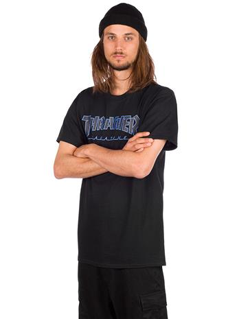 Thrasher Outlined T-Shirt black / black Miehet