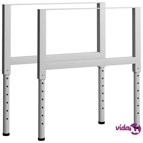 vidaXL Säädettävät työpöydän rungot 2kpl metalli 85x(69-95,5) cm harmaa