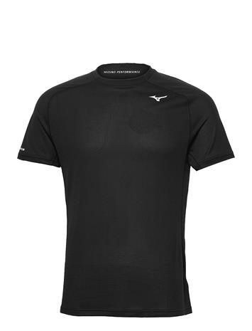 Mizuno Dryaeroflow Tee T-shirts Short-sleeved Musta Mizuno BLACK
