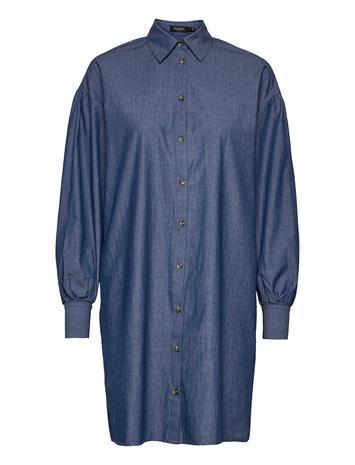 Soaked in Luxury Slalf Arcy Dress Ls Polvipituinen Mekko Sininen Soaked In Luxury CLASSIC BLUE DENIM