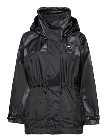adidas by Stella McCartney Truepace Jacquard Jacket W Parka Takki Musta Adidas By Stella McCartney BLACK